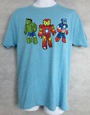 Marvel Avengers Mens T-Shirt New Hulk Iron Man Captain America Pixels Medium