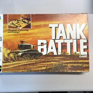 Tank Battle Board Game Vintage 1975 Milton Bradley Games