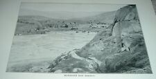 1898 Antique Print MAMMOTH HOT SPRINGS Yellowstone National Park