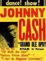 MUSIC CONCERT ADVERT JOHNNY CASH GRAND OLE OPRY ART PRINT POSTERBB6772B