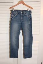 Vince Made in USA Vintage Distressed Medium Wash Jeans Sz 28x28 *Excellent*