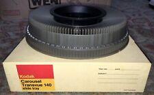 Kodak Carousel Transvue 140 Slide Tray EUC In Original Box Vintage