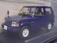 Mitsubishi Pajero 1982 Blue 1/43 Scale Box Mini Car Display Diecast Vol 52