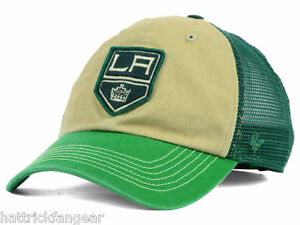 Los Angeles Kings 47 Brand NHL McNally St.Patrick's Adjustable Hockey Hat Cap