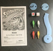 Shark Attack Board Game Replacement Parts Pieces Rotating Arm/Dice/Fish Manual