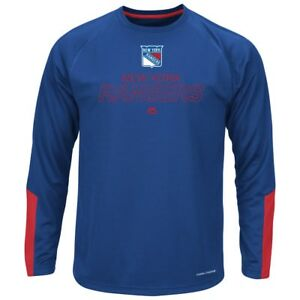 "New York Rangers Majestic NHL ""Cutting"" Cool Base Men's Long Sleeve Shirt"