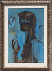 Sami Briss, Profile of a Woman, Gouache on paper, signed lower right
