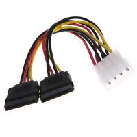 K16 SATA Power Kabel Serial Stromkabel 2x S-ATA 15 pin Buchse auf 4 pol Molex 👍