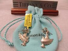 Tiffany & Co Paloma Picasso Dove Sterling Silver Dangle Drop Earrings Rare