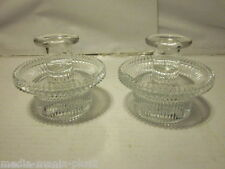 Vintage Pair Of 2 Piece Candlestick Holder Ribbed Sides