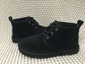 UGG Neumel Black Suede Sheepskin Ankle Boots Booties Shoes Size US 7 Womens