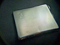 Antique  Sterling Silver Cigarette Case Art Deco Geometric Design 1920's