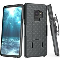 For Samsung Galaxy S9 - Combo Shell Case w Kick-stand Swivel Belt Clip Holster