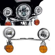 Passing Fog Light Bar Kit For Harley Road King Classic FLHRC FLHR Fatboy FLSTF