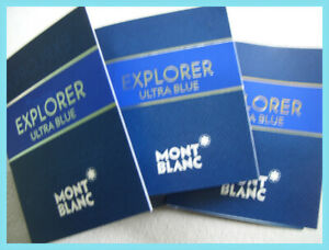 Mont Blanc EXPLORER ULTRA BLUE 3 x 2ml EDP EDP samples / vials (2021 release)