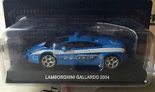 """DIE CAST """" LAMBORGHINI GALLARDO - 2004 """" POLIZIA SCALA 1/43"""