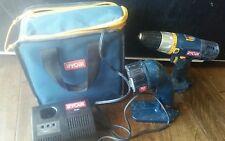 Ryobi 14.4  Cordless Drill P201 Flashlight P700 Charger P110 & Case