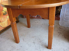 Vintage Round Silky Oak Occasional Table