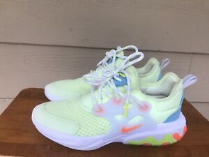 Nike React Presto GS Barely Volt Hyper Crimson BQ4002-700 Youth Sneakers Size 6Y