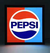 More details for pepsi - retro style light box advertising sign - usb powered (56)