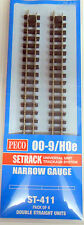 Peco  ST-411 Double Straight x4 Narrow Gauge Track 009/HOe