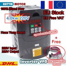 【FR】4KW VFD Variateur de fréquence Vitesse Contrôleur 220V 3-Phase CNC Inverseur