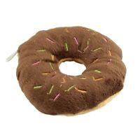 Pet Dog Puppy Cat Animal Squeaky Squeaker Sound Toy Cotton Wool Donut M5B3 EL