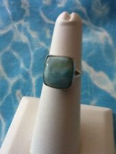 Natural Larimar Ring Solid 925 Sterling Silver Jewelry Size 5.5 #20