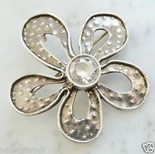 Silpada Flower Pendant - Pin, Brooch - Cubic Zirconia - i1540 - 9.7 Gm