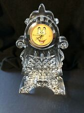 Disney Cogsworth Waterford Crystal Clock Beauty and the Beast.