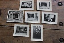Lot 7 photos anciennes Vitrine de charcuterie - Traiteur - Comestibles - N°1