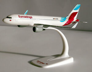 Eurowings Airbus A320-200 1:200 Herpa Snap-Fit 610674-001 Flugzeug Modell A320