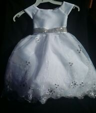 Baptism Gown,Christening,Formal Dress, Flower Girl,White Vestido de Bautizo,niña