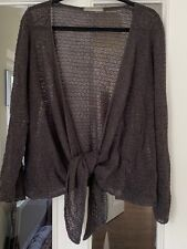 LOVELY M & S DARK GREY LACY TIE FRONT CARDIGAN - SIZE 20!!