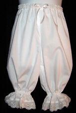 Girls Boutique Knee length Bloomers Pantaloons Eyelet trim White New! size M 4/5