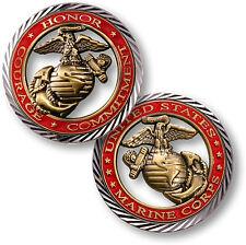 U.S. Marines / Core Values - USMC Brass Challenge Coin