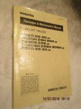 Factory Komatsu Operation Maintenance Manual Book Forklift FG20/25/30-12 FG20H