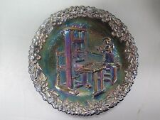"Fenton Collector Plate 1971 # 2 in Series Printer Stephen Daye 1638 8 1/4"" Wide"