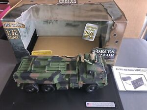 RETIRED Forces Of Valor 1:32 Scale US M142 High Mobility Rocket System Truck