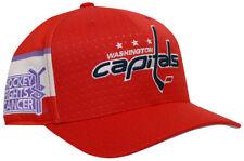 Washington Capitals adidas Hockey Fights Cancer Flex Fit Hat S/M