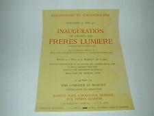 1955 AFFICHE Inauguration Avenue des Frères LUMIERE Lyon 60ans du CINEMATOGRAPHE