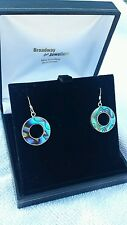 Vintage sterling silver abalone earrings