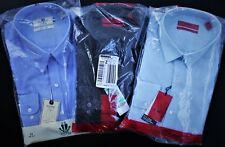 NEW (3) Men's Alfani & Club Room (Macy's) Designer Fitted Shirts size 17- 36/37