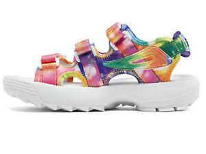 Fila Disruptor Tie Dye Athletic Sandal Big Girls New in Box