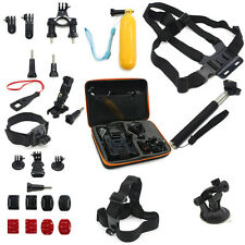 Accessories Set Kit Monopod Head Chest Strap Mount Bag For Gopro Hero 1 2 3 4 5