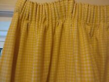 "Pair  Laura Ashley vintage black out lined gingham yellow curtains 41""l/76""w"