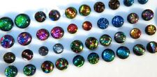 Round 40 Piece 20 sets Dichroic Small Tiny DOT CABOCHONS Earring CABS  7 8 9 mm