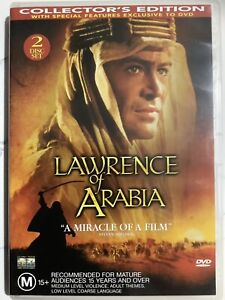 LAWRENCE OF ARABIA - DVD Region 4 - Peter O'Toole VERY GOOD CONDITION