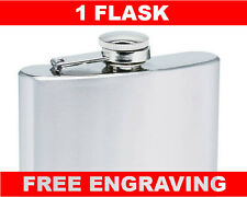 1 Personalized Flasks 6oz Groomsmen best-man bride maids gifts free engraving