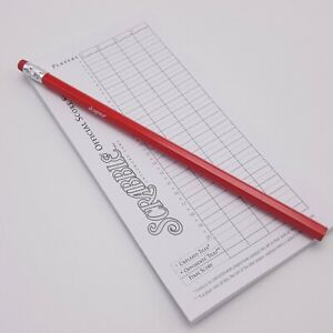 Scrabble Folio Replacement Score Sheet Pad 41 Sheets With Pencil Game Part Piece